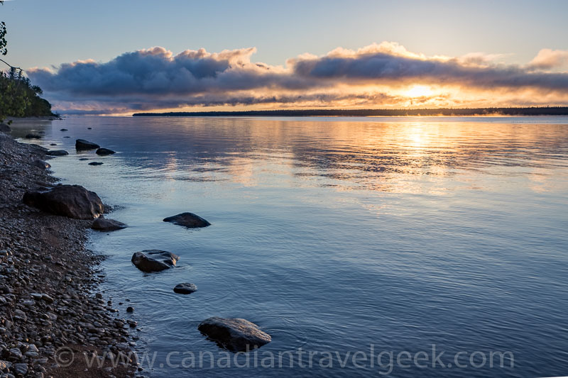 Sunrise at Hecla Island