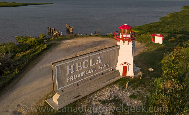 Welcome to Hecla - with a lighthouse!